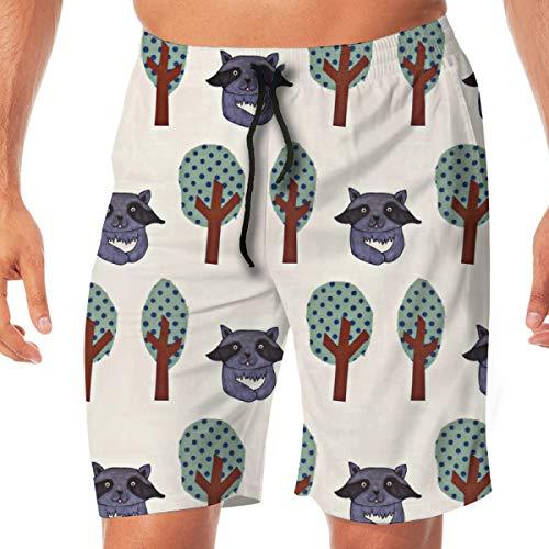 4ecb64fc76cbf Bidetu Pantalones Cortos de la Tabla de los Hombres Racco Relajado_2483 Swim  Trunks Surf Beach Holiday