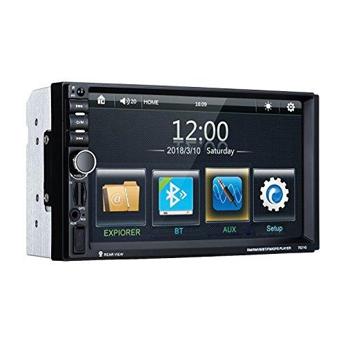 Excelvan 2 din autoradio tft lcd touchscreen da 7 pollici mp5 lettore multimediale per auto con funzione bluetooth & chiamate vivavoce & mirror link supporta usb/sd/fm/aux/bt navigazione gps per auto(mappa europea e telecamera retrovisore inclusa nel pacchetto)