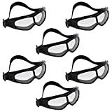 Safety Glasses (6 pieces) - Protective Glasses with Padded Design for Comfort