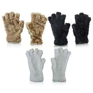 6 x Kuschelhandschuh Handschuh fingerfrei