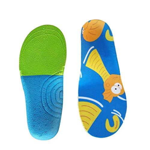 Boowhol Orthopädische Einlegesohle/Sport-Einlegesohlen Einlagen - Fußballen Plattfuß Fußkorrektur Bein Korrektur Einlegesohle für Kinder (L / 21.5cm / 30-34 EU)