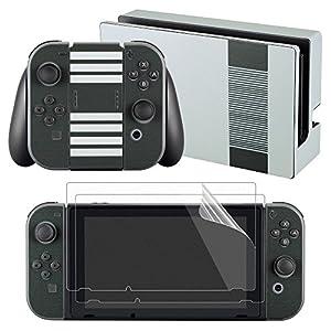 eXtremeRate Sticker Aufkleber Skin Folie Abziehbild Faceplates Decal Klebefolie mit 2 Displayschutzfolie für Nintendo Switch Console&Joy-Con&Dock&Grip