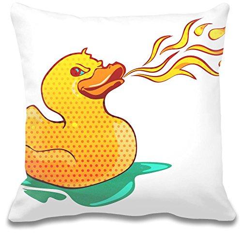 Fire Breathing Rubber Ducky Cuscino