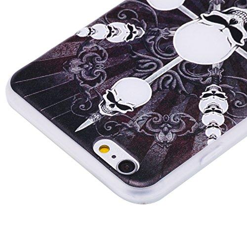 Coque Apple iPhone 6 / 6s Plus (5,5 Pouces) ,BONROY® Ultra-Mince Soft Silicone Etui de Protection pour Modèle de peinture Souple Gel TPU Bumper Anti-Scratch Housse Case Cover Pour Apple iPhone 6 / 6s  Crânes de boussole