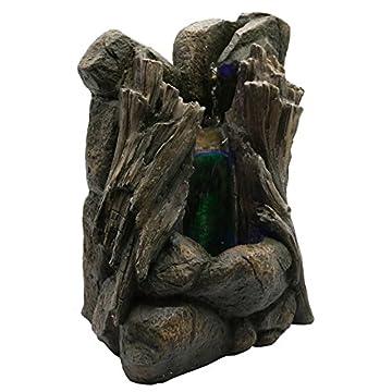 Zen Luz SCFR136 Legno Fontaine Marrón Naturaleza Piedra / Madera 25 x 18 x 36 cm 4