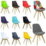 WOLTU 2er Set Esszimmerstühle BH29gr-2-c Esszimmerstuhl Design Stuhl Küchenstuhl Holz, Neu Design, Grau