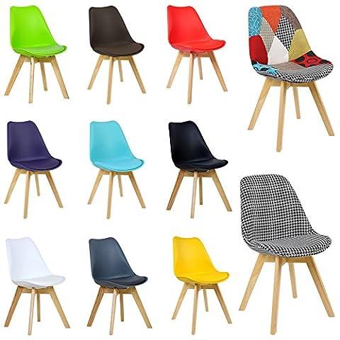 WOLTU® 2 Chaises salle à manger BH29ws-2-c salle à manger chaise,Chaise de cuisine en bois,Blanc