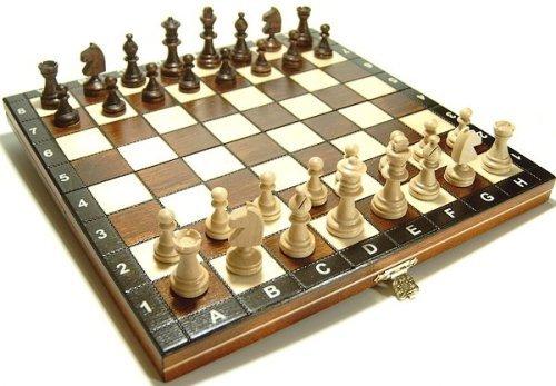 Schach Schachspiel Schachset aus Holz Kassette
