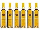 6x Kourtaki Samos Muskateller Likörwein 15% je 750ml griechischer Weißwein Dessertwein Süßwein Muskat Muscat Weiß Wein aus Griechenland im Spar Set + Probiersachet 10ml Olivenöl