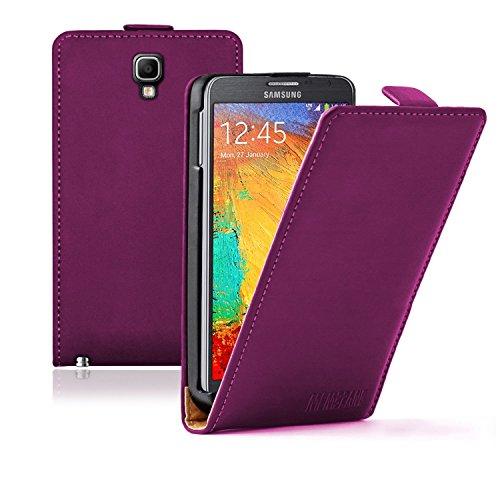 Membrane - Ultra Slim Viola Custodia Compatibile con Samsung Galaxy Note 3 Neo (SM-N750 / SM-N7505 / SM-N7502 Duos) - Flip Case Cover + 2 Pellicola Protettiva