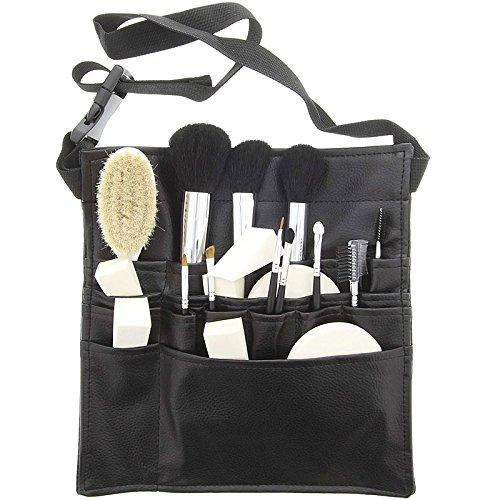 14 Kosmetik Pinsel, Kosmetikpinsel Set, Exclusiv Gürteltasche, Kunstleder schwarz, Barbara Hoffmann