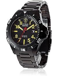 Detomaso DT2027-B - Reloj analógico automático para hombre con correa de acero inoxidable, color negro