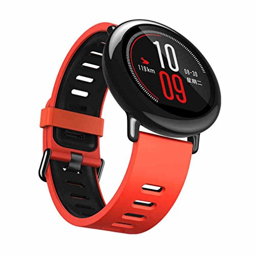 Kaiki für Xiaomi Huami Amazfit A1602 Armband,Neue Mode Sport Silikon Armband Strap Band für Xiaomi Huami Amazfit A1602 (Red)