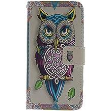 Coffeetreehouse - Bolso pequeño al hombro para mujer Owl búho LG G2