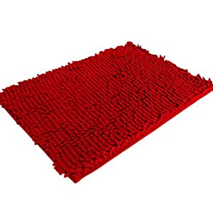 malloom shaggy doux antid rapant tapis de bain absorbant tapis de salle de douche tapis rouge. Black Bedroom Furniture Sets. Home Design Ideas