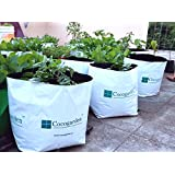Cocogarden Medium Size Poly Growbags -Uv Stabilized -8 Qty [24Cms(L)X24Cms(W)X40Cms(H)]