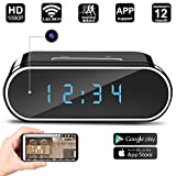 Hidden Camera Clock WIFI Remote View Mini IP Camera Motion Detection HD 1080P Loop Recording Wireless Camera Realtime Video,Covert Nanny Cam for Home Security Oval-shaped by Jiamus