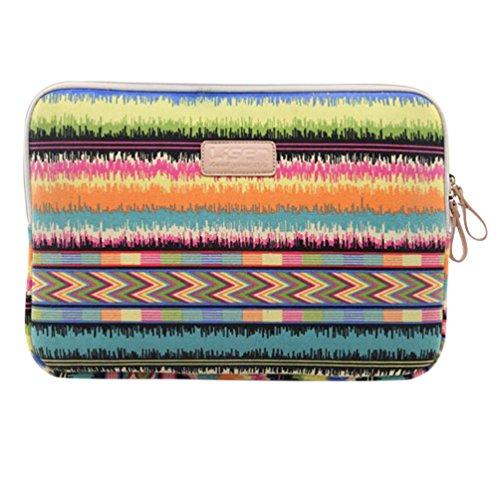 Baymate Bohème Stil Canvas-Gewebe Hülle Aktentasche Sleeve Tasche Für 11.6-15 Zoll Laptop 12 Zoll Nein Tragbare