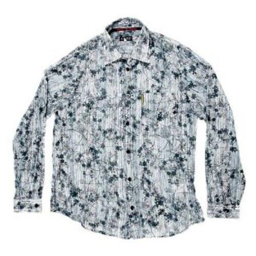 Armani Jeans-Maglietta a maniche lunghe con stampa shirt. AJM4750 ciano Large