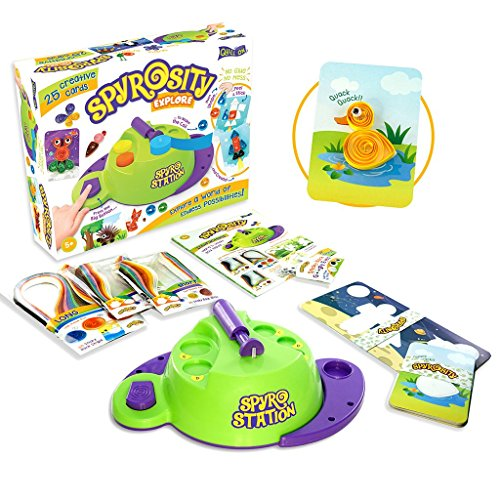 Spyrosity Explore- Quilling Based Creative Toy and Activity Set– with Patent Pending Motorized Tool - for Boys and Girls Above 5 Years