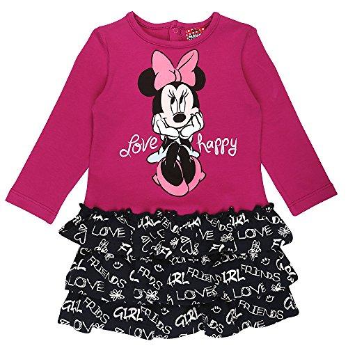 Disney ragazze minnie mouse vestito, rosa, taglia 92, 2 anni
