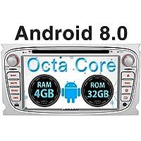 Pumpkin Android 8.0 Autoradio GPS para Ford Focus Mondeo S-MAX Galaxy soporta DVD/