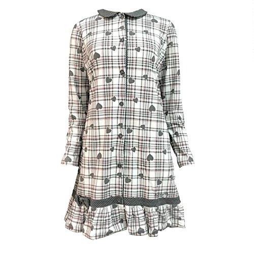 camicia da notte donna caldo cotone NOI DI NOTTE art. 1684 Grigio