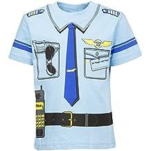 Kinder Uniform - Kostüm T-shirt Pilot 92 bis 146