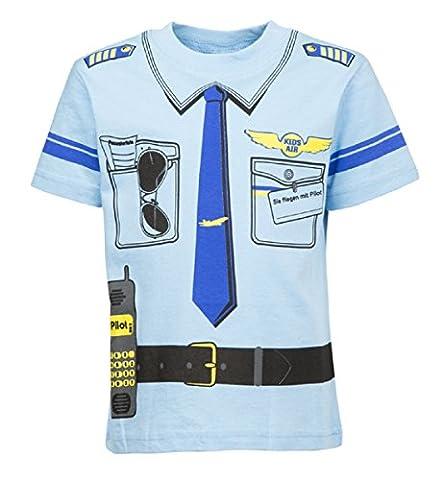 Kinder Uniform T-shirt Pilot 92 bis 146 (110/116)