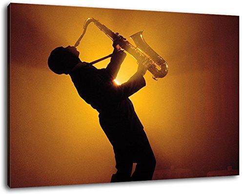 Saxophon-Leinwand-Bild-Format120x80-cm-Bild-auf-Leinwand-bespannt-riesige-XXL-Bilder-komplett-und-fertig-gerahmt-mit-Keilrahmen-Kunstdruck-auf-Wand-Bild-mit-Rahmen-gnstiger-als-Gemlde-oder-Bild-kein-P