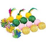 Blueberry Pet Toys For Cat Toy Mix & Match 15-piece Pack- Sisal Balls   Sponge Balls   Floral Balls