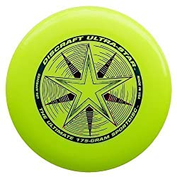"Discraft Ultra Star 175g Ultimate Frisbee ""Starburst"" - Yellow"