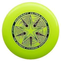 "Discraft Ultra Star 175g Ultimate Frisbee ""Starburst"" - Yellow"