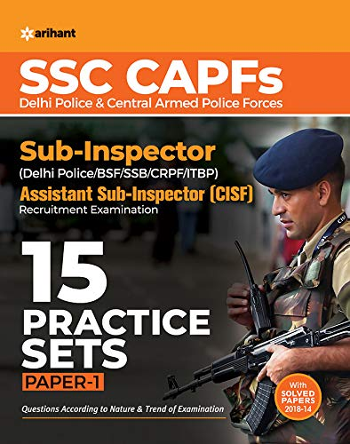 SSC CAPFs Sub Inspector and Assistant Sub Inspector Practice Sets 2019