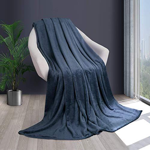 HOMFY Fleecedecke Kuscheldecke 150x200cm, Flauschige Tagesdecke aus Mikrofaser, super weiche Wohndecke Sofadecke Reisedecke