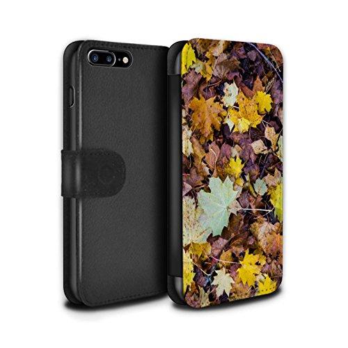 Stuff4 Coque/Etui/Housse Cuir PU Case/Cover pour Apple iPhone 8 Plus / Feuilles/Arbre Design / Automne Saison Collection Feuilles