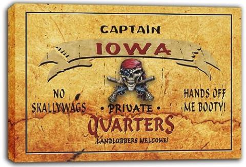 scpw2-2015 IOWA Captain Private Quarters Skull Stretched Canvas Print
