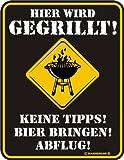 Chapa-diseño-placa con texto en alemán: esta oferta incluye la achicharrado 17 cm x 22 cm
