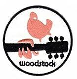 Coutures bügelbild thermocollantes iron on patchs motif colombe de la paix woodstock chimes peace guitare musique