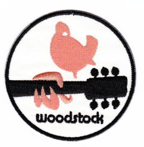 Parche plancha de planchar Iron on patches applikation Woodstock Peace Paloma Paz guitarra música