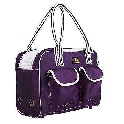B-JOY Dog Box Car Dog Transport Box Transport Bag Handbag S M L Pet Dog Dog and Cat Airline Approved (L(45*18*30cm… 2