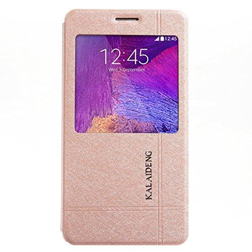 Kalaideng KLD Iceland 2 Series Schutzhülle für Samsung Galaxy Note 4, PU-Leder, Schwarz, goldfarben (Galaxy Samsung Us Note4 Cellular)