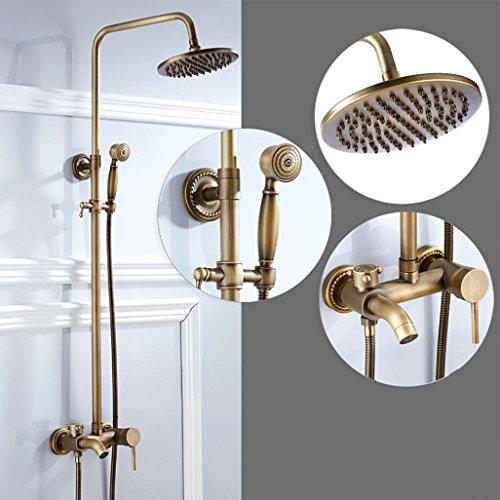 OOFAY TAPS@ GK-Niederschlag Duschsystem Badezimmer Wandmontierte Wasserhahn Set Wanne Auslauf mit Handbrause Kopf Einzelgriff Drei Löcher Wandmontiert