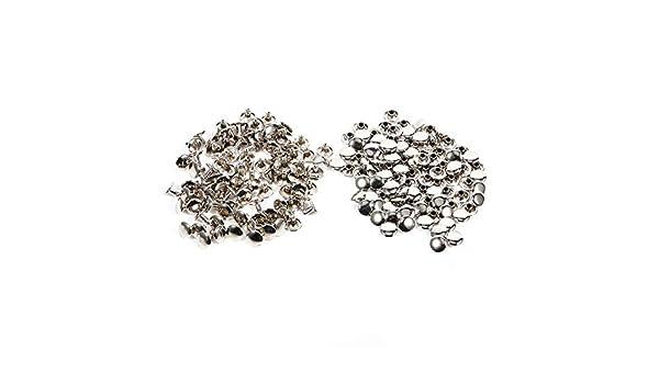 Bronze Spikes Nieten 3 Farben 100Sets 8 x 8mm Doppelkappe Niet Metall Leder Handwerk Reparaturen Bolzen Spike Dekoration Reparaturen Bolzen Dekoration