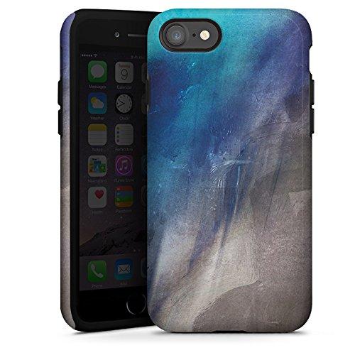 Apple iPhone X Silikon Hülle Case Schutzhülle Wasserfarbe Kunst Pinsel Tough Case glänzend