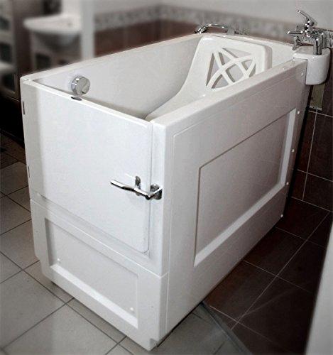 Badewanne mit Tür Seniorenbadewanne SENSATION walk-in badewanne 132×68 cm/150×68 cm Sitzbadewanne Sitzwanne Badewanne mit Tür