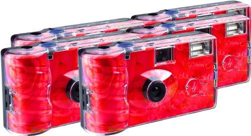TopShot Roses Einwegkamera / Hochzeitskamera (27 Fotos, Blitz, 5-er Pack)