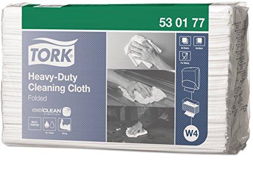 arke Reinigungstücher für W4 Einzeltuch System / 1-lagige Putztücher in Weiß / Premium Qualität / 1 x 300 Tücher / 35,5 x 64,2 cm (B x L) ()