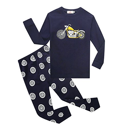 Jungen Kleidung Set, Baywell Lange Ärmel Motorrad Druck Tops + Gamaschen Schlafanzug Set(Set, 2tlg) (S/3 Jahr Alt/90) (Motorrad-kinder-pyjama)