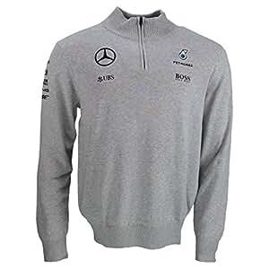 mercedes amg f1 replica team puma zipp tricot le pull gris officiel 2016 sports et. Black Bedroom Furniture Sets. Home Design Ideas